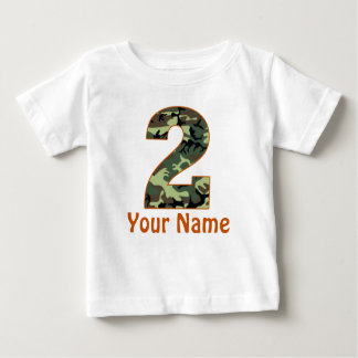 2nd Birthday Camo Personalized Shirt