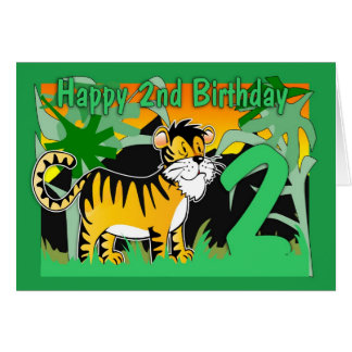 2nd Birthday Card - Tiger