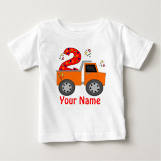 2nd Birthday Dump Truck Personalized T-shirt