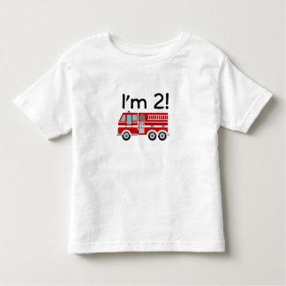 2nd Birthday Fire Engine Toddler T-Shirt