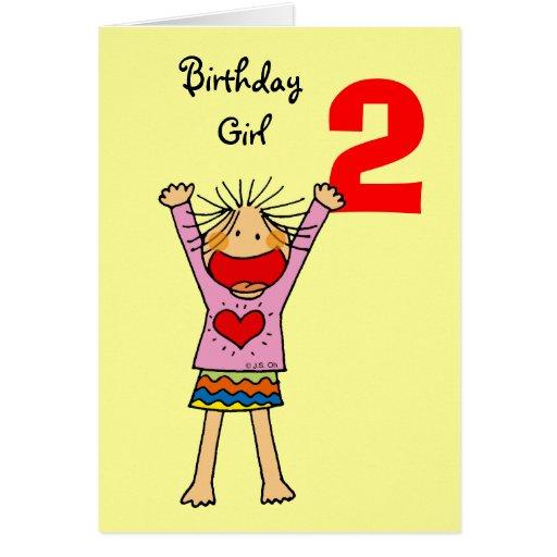 2nd birthday girl cards