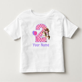 2nd Birthday Girl Cowgirl Personalized T Shirt