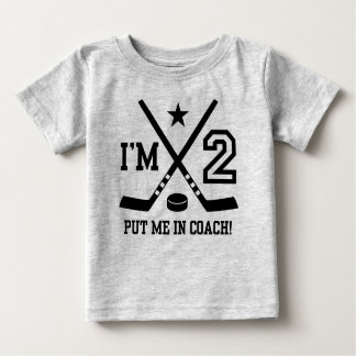 2nd Birthday Hockey Baby T-Shirt