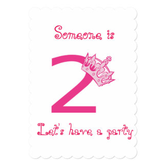 2nd BIRTHDAY PARTY INVITATION FOR YOUR *PRINCESS**