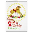 2nd Birthday Rocking Horse Stars Card
