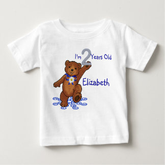 2nd Birthday Teddy Bear for Girl Baby T-Shirt