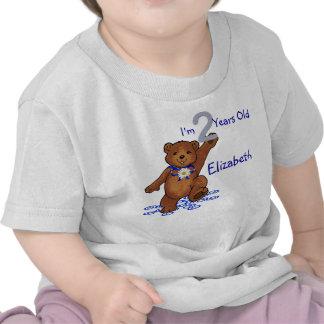 2nd Birthday Teddy Bear for Girl Tee Shirts
