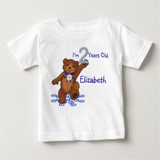 2nd Birthday Teddy Bear for Girl Tshirts