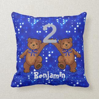 2nd Birthday Teddy Bears Cushion