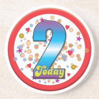 2nd Birthday Today v2 Drink Coaster