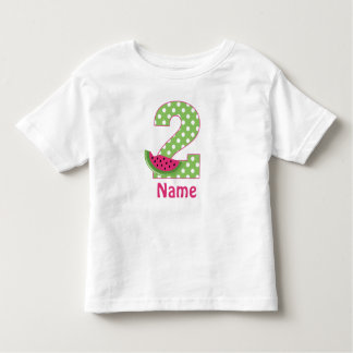 2nd Birthday Watermelon Pink Personalised T-shirt