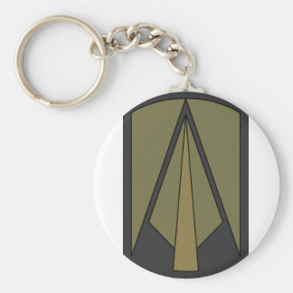 2nd Brigade 1st Infantry  Division Basic Round Button Key Ring