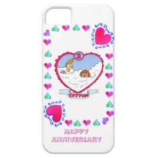 2nd cotton wedding anniversary, iPhone 5 case