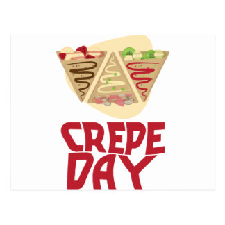 2nd February - Crepe Day - Appreciation Day Postcard