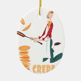 2nd February - Crepe Day Ceramic Ornament
