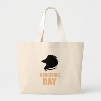2nd February - Hedgehog Day Large Tote Bag