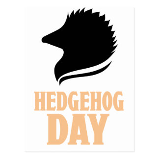 2nd February - Hedgehog Day Postcard