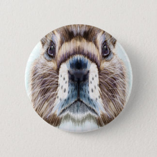 2nd February - Marmot Day - Appreciation Day 6 Cm Round Badge