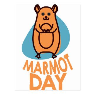 2nd February - Marmot Day - Appreciation Day Postcard