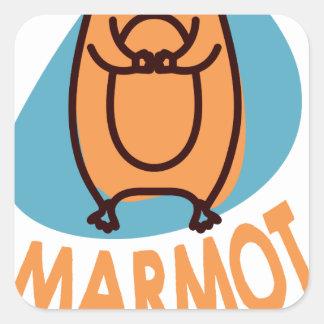 2nd February - Marmot Day - Appreciation Day Square Sticker