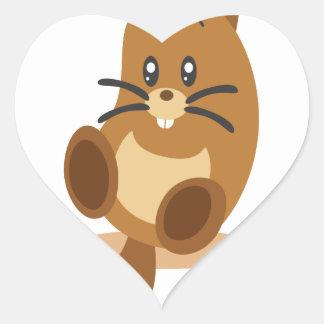 2nd February - Marmot Day Heart Sticker