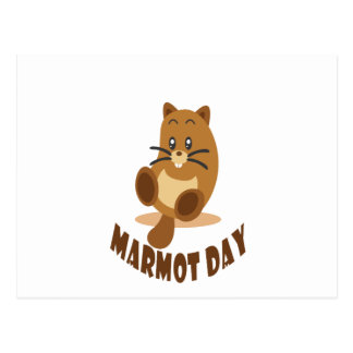2nd February - Marmot Day Postcard