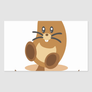 2nd February - Marmot Day Rectangular Sticker
