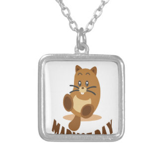 2nd February - Marmot Day Silver Plated Necklace