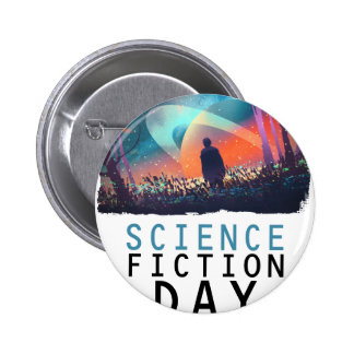 2nd February - Science Fiction Day 6 Cm Round Badge