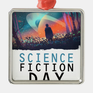 2nd February - Science Fiction Day Metal Ornament