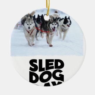 2nd February - Sled Dog Day Ceramic Ornament
