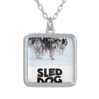 2nd February - Sled Dog Day Silver Plated Necklace
