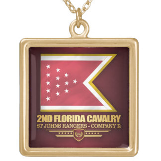 2nd Florida Cavalry Gold Plated Necklace