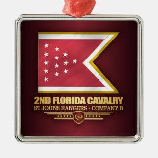 2nd Florida Cavalry Metal Ornament