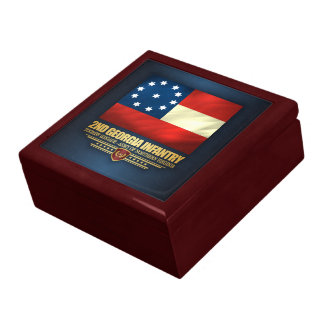 2nd Georgia Infantry Large Square Gift Box
