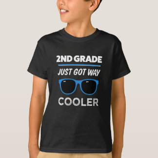 2nd Grade just got way cooler funny boys shirt