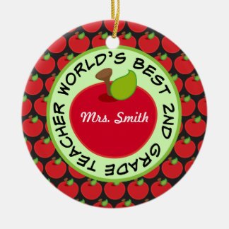 2nd Grade Personalized Teacher Gift Ornament