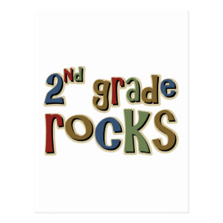 2nd Grade Rocks Second Postcard
