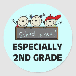 2nd Grade School is Cool Tshirts and Gifts Round Sticker