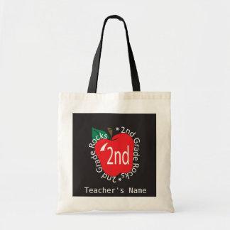 2nd Grade Teachers Rock Bag Budget Tote Bag