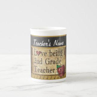 2nd Grade Teacher's Vintage Unique Style Tea Cup
