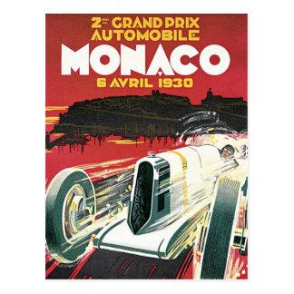 2nd Grand Prix de Monaco Postcard