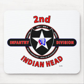 "2ND INFANTRY DIVISION ""INDIAN HEAD"" MOUSE PAD"