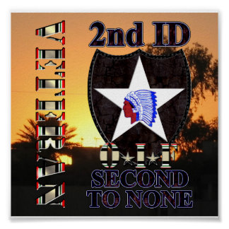 2nd Infantry Division OIF Veteran Poster