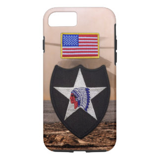 2nd infantry indianhead veterans vets patch iPhone 7 case