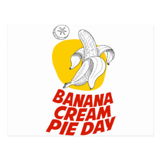 2nd March - Banana Cream Pie Day Postcard