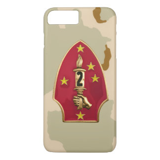 "2nd Marine Division""The Silent Second"" Desert Camo iPhone 7 Plus Case"