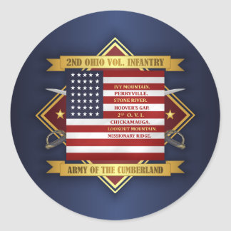 2nd Ohio Volunteer Infantry Classic Round Sticker