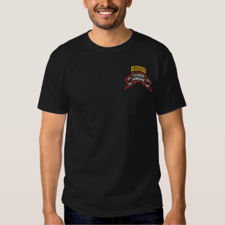 2nd Ranger Battalion old-style scroll with tab T-shirt