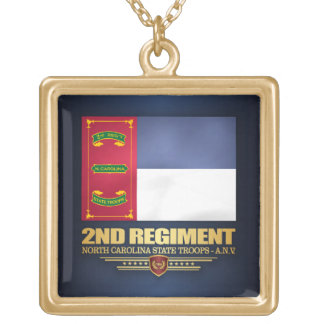 2nd Regiment, North Carolina State Troops Gold Plated Necklace